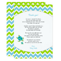 Sea Turtle baby shower thank you note   poem Invitation
