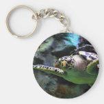 Sea Turtle Basic Round Button Keychain