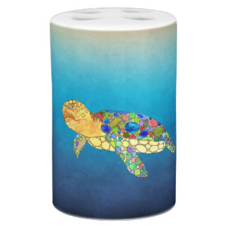 Sea Turtle Bath Set