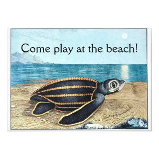 Sea turtle birthday bash card