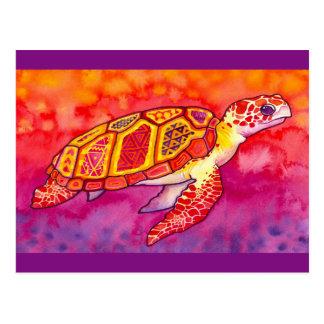 Sea Turtle Bright Artwork Postcard