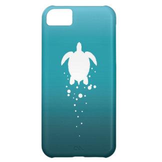 Sea Turtle & Bubbles Against Blue-Green Ocean Case For iPhone 5C