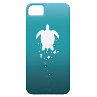 Sea Turtle & Bubbles Against Blue-Green Ocean iPhone SE/5/5s Case