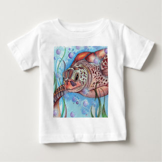 Sea Turtle Buble Design T Shirt