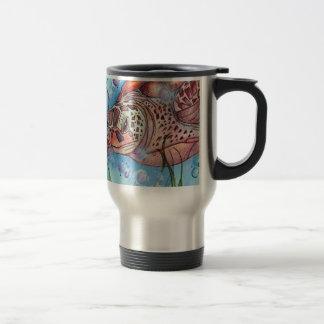 Sea Turtle Buble Design Travel Mug