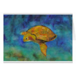 Sea Turtle by Paula Atwell Greeting Card