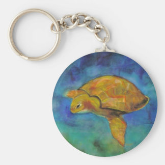 Sea Turtle by Paula Atwell Keychain