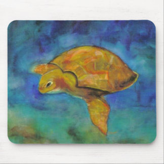 Sea Turtle by Paula Atwell Mouse Pads