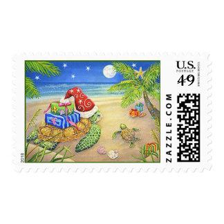 Sea Turtle Christmas Stamp