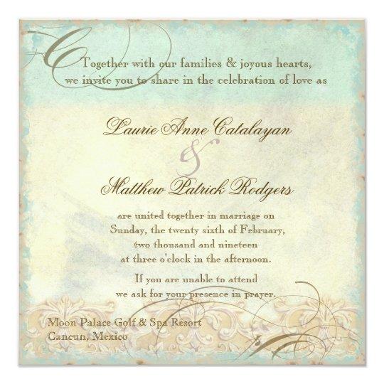 Sea Turtle Wedding Invitations: Destination Wedding Invitation