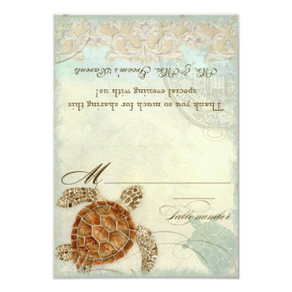 Sea Turtle Coastal Beach - DIY Tent Place Cards