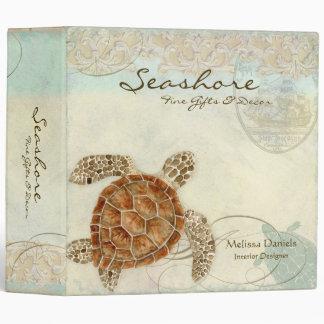 Sea Turtle Coastal Beach Ocean Business Binder