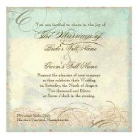 Sea Turtle Coastal Beach - Wedding Invitation