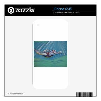 Sea turtle decals for the iPhone 4