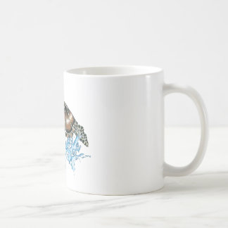 sea turtle design coffee mug