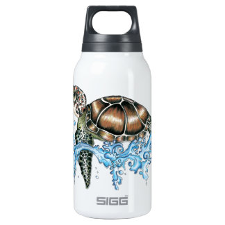 sea turtle design thermos water bottle