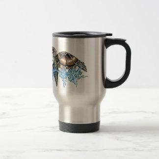 sea turtle design travel mug