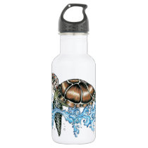 sea turtle design water bottle
