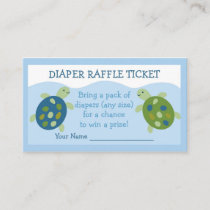 Sea Turtle Diaper Raffle Tickets Enclosure Card