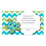 Sea Turtle Diaper Raffle Tickets or insert cards Business Cards