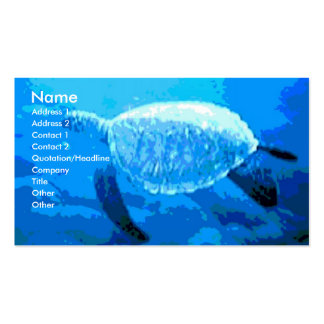 Sea Turtle Double-Sided Standard Business Cards (Pack Of 100)