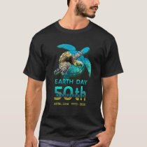 Sea Turtle Earth Day 50th Anniversary Gift T-Shirt