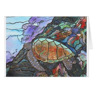 Sea Turtle Fantasy Coral Reef Greeting Card