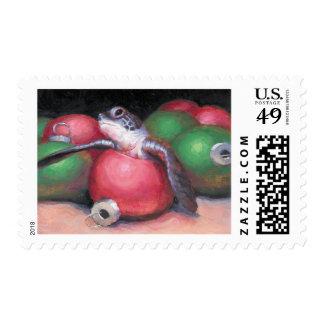 Sea Turtle Florida Christmas postage stamp