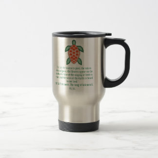 """Sea Turtle, """"For, lo! the winter is past, the r... 15 Oz Stainless Steel Travel Mug"""