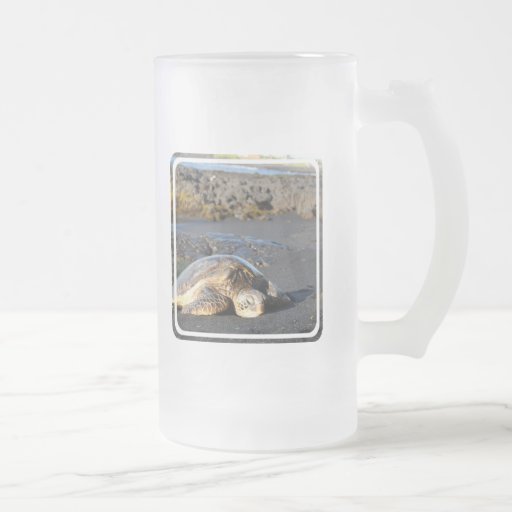 Sea Turtle Frosted Beer Mug