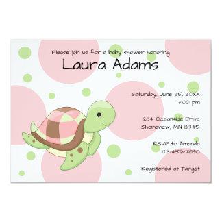 Sea Turtle Girl Baby Shower Invitations