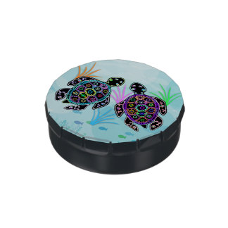 Sea Turtle Glow Jelly Belly Candy Tin