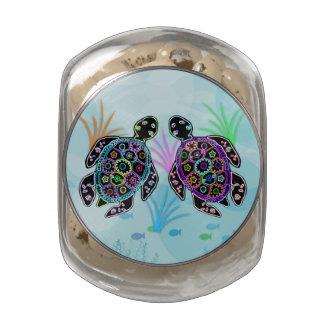 Sea Turtle Glow Glass Jar