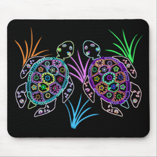 Sea Turtle Glow Mouse Pad