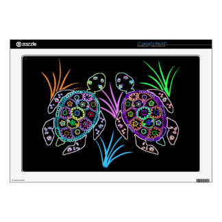 "Sea Turtle Glow 17"" Laptop Skin"