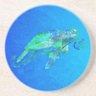 Sea Turtle Graphic Coaster