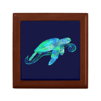 Sea Turtle Graphic Keepsake Box