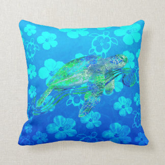 Sea Turtle Graphic Pillow