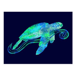 Sea Turtle Graphic Postcard