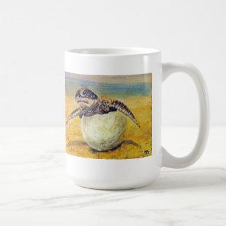 Sea turtle hatching coffee mug