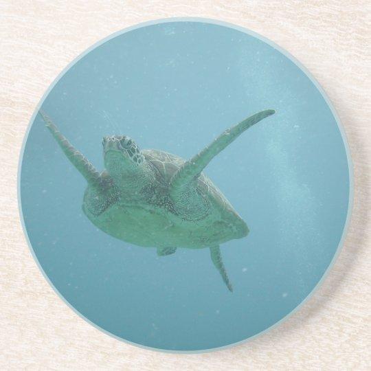 Sea Turtle in Natural Habitat Drink Coaster
