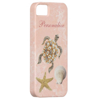 Sea Turtle Jewel Print, Starfish & Sea Shell iPhone 5 Cases