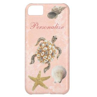 Sea Turtle Jewel Print, Starfish & Sea Shells iPhone 5C Cover