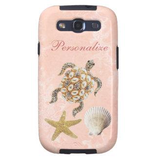 Sea Turtle Jewel Print, Starfish & Sea Shells Samsung Galaxy S3 Cases
