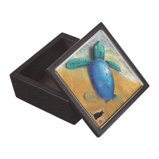 Sea Turtle Jewelry Box