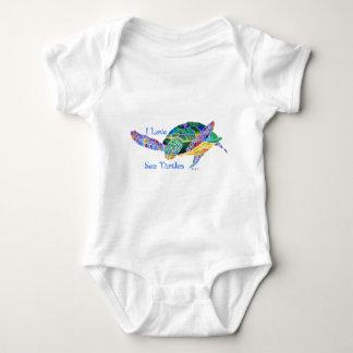 Sea Turtle Love a Turtle Baby Bodysuit