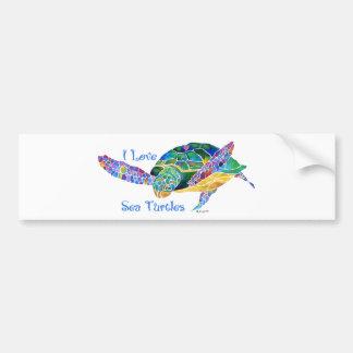 Sea Turtle Love a Turtle Bumper Sticker