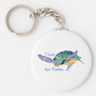 Sea Turtle Love a Turtle Keychain