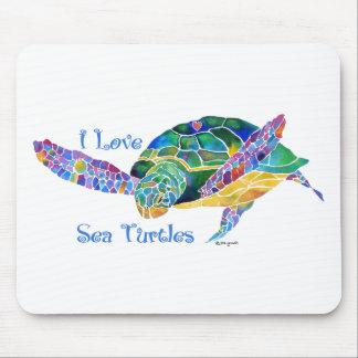 Sea Turtle Love a Turtle Mousepads