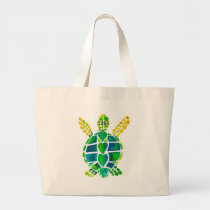 Sea Turtle Love Collection Large Tote Bag